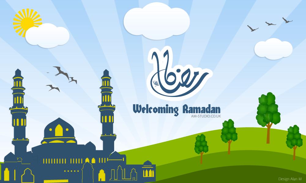 Welcoming Ramadan Vector - Am-Studio | Am-Studio